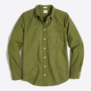 J.Crew Sunwashed Oxford Green Boy Fit XS
